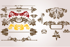 Link toVariety of european-style decorative borders, vector