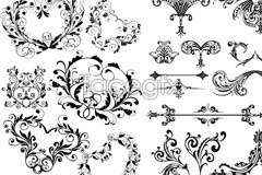 Link toVariety of european-style flower eps vector