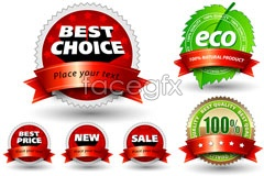 Link toVariety of exquisite natural green sale-vector