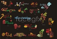 Variety of festive character design vector