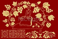 Link toVariety of fine chinese classical flower pattern vector