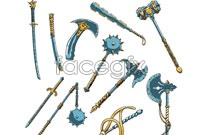Link toVariety of fine games weapons vector