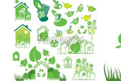 Link tovector theme protection environmental green of Variety