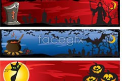 Link toVariety of halloween banner vector