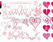 Link toVariety of heart-shaped element vector