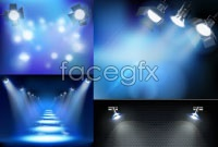 Variety of light effect vector