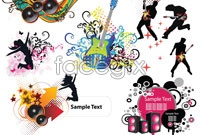 Link toVariety of mobile music dance vector graphics