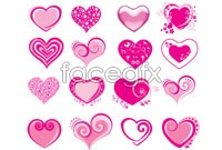 Link toVariety of pink heart vector graphic