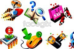 Link toVariety of practical 3d style icon vector
