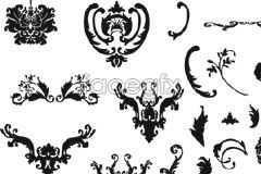 Link toVariety of practical black and white european-style pattern vector