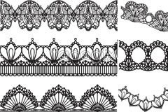 Link toVariety of practical black and white lace vector