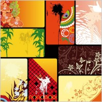 Link toVariety of practical card background vector