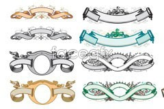 Link toVariety of practical lable european style vector