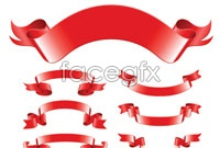 Link toVariety of red ribbon vector