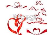 Link toVariety of ribbon heart-shaped vector