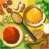 Link toVariety of seasonings and ingredients psd layered
