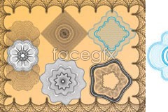 Link toVariety of security style line texture pattern vector