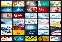 Variety of stylish business card background vector graphics