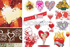 Link toVariety of valentine's day element vector