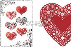 Link toVariety of valentine's day heart shaped flower eps vector