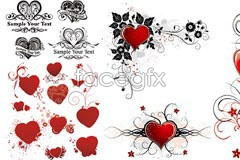Link tovector element pattern heart-shaped day, valentine's of Variety