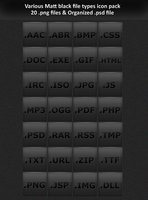 Link toVarious black file types icon