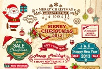 Link toVarious cartoon christmas labels