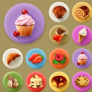 Link toVarious dessert and food flat icons vector 01 free