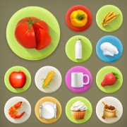 Link toVarious dessert and food flat icons vector 02 free