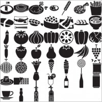 Link toVarious elements of vector silhouette food category 59 elements