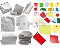 Link toVarious forms of paper scotch tape vector