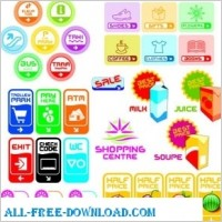 Link toVarious icons shape and colors