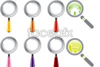Link toVarious magnifiers vector