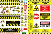 Link toVarious road construction security logo vector