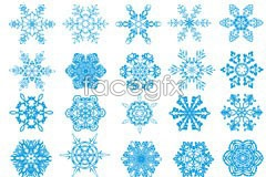 Link toVarious shapes of snowflakes eps vector
