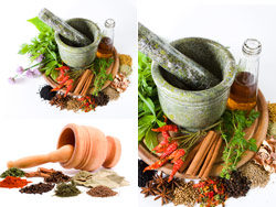 Link toVarious spices and garlic mortar-hd pictures 1