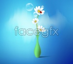 Link toVase flowers vector graphic