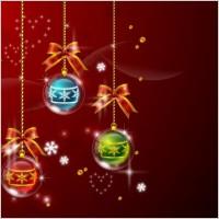 Link toVector 4 christmas ball hanging