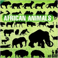 Link toVector african animals silhouettes