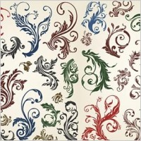 Link toVector beautiful floral curls