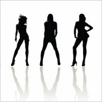 Link toVector beauty woman silhouettes