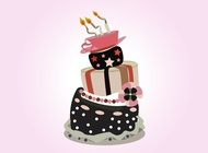 Link toVector birthday cake free