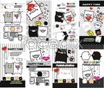 Link toVector black and white pig cartoon