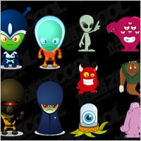 Link toVector cartoon alien material