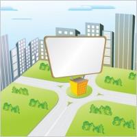 Link toVector cartoon billboard