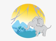 Link toVector cartoon elephant free