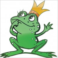 Link toVector cartoon frog prince