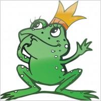 Link toVector cartoon frog prince