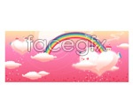 Link toVector cartoon rainbow