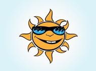 Link toVector cartoon sun free